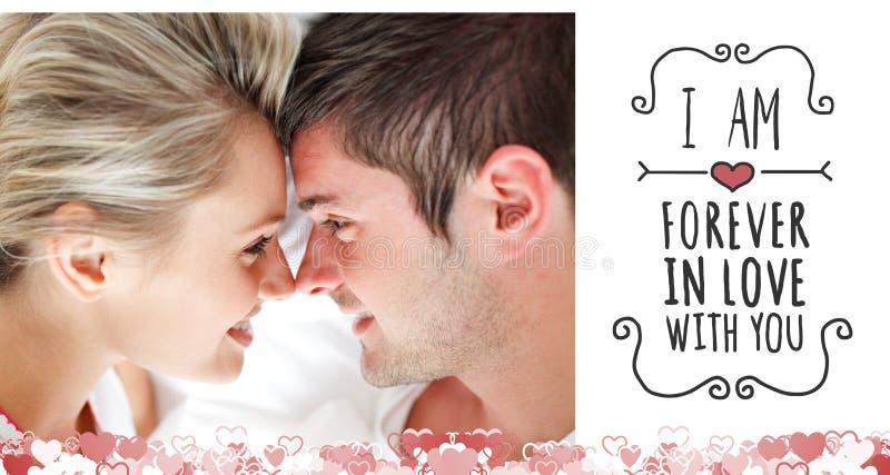 Immagine composita delle coppie sveglie dei biglietti di S. Valentino illustrazione vettoriale