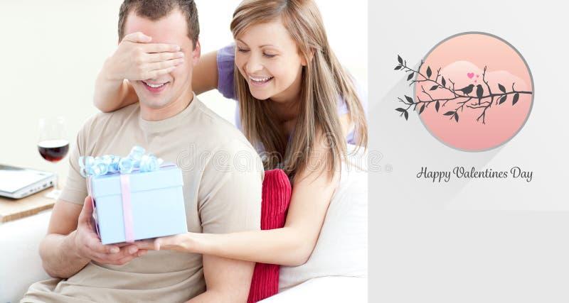 Immagine composita delle coppie sveglie dei biglietti di S. Valentino royalty illustrazione gratis
