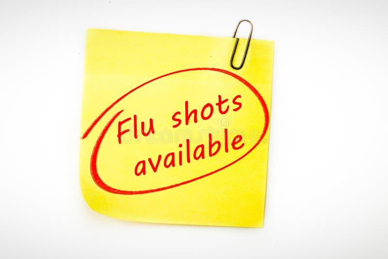 Immagine composita delle iniezioni antinfluenzali disponibili illustrazione di stock
