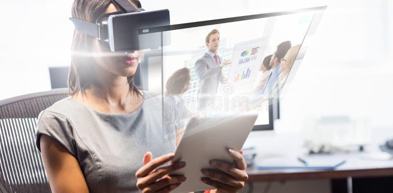 Immagine composita dello schermo di video chiamata immagine stock