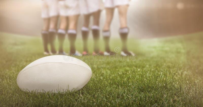 Immagine composita dello stadio di rugby fotografie stock libere da diritti