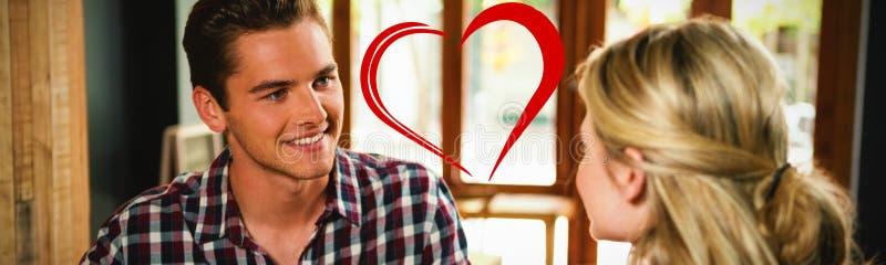 Immagine composita di cuore fotografia stock libera da diritti