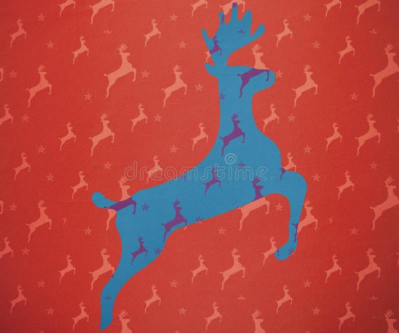 Immagine composita di funzionamento della renna royalty illustrazione gratis