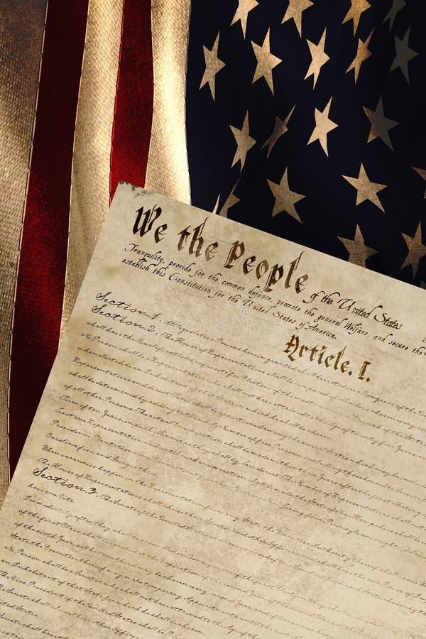 Immagine composita di increspatura digitalmente generata della bandiera americana royalty illustrazione gratis
