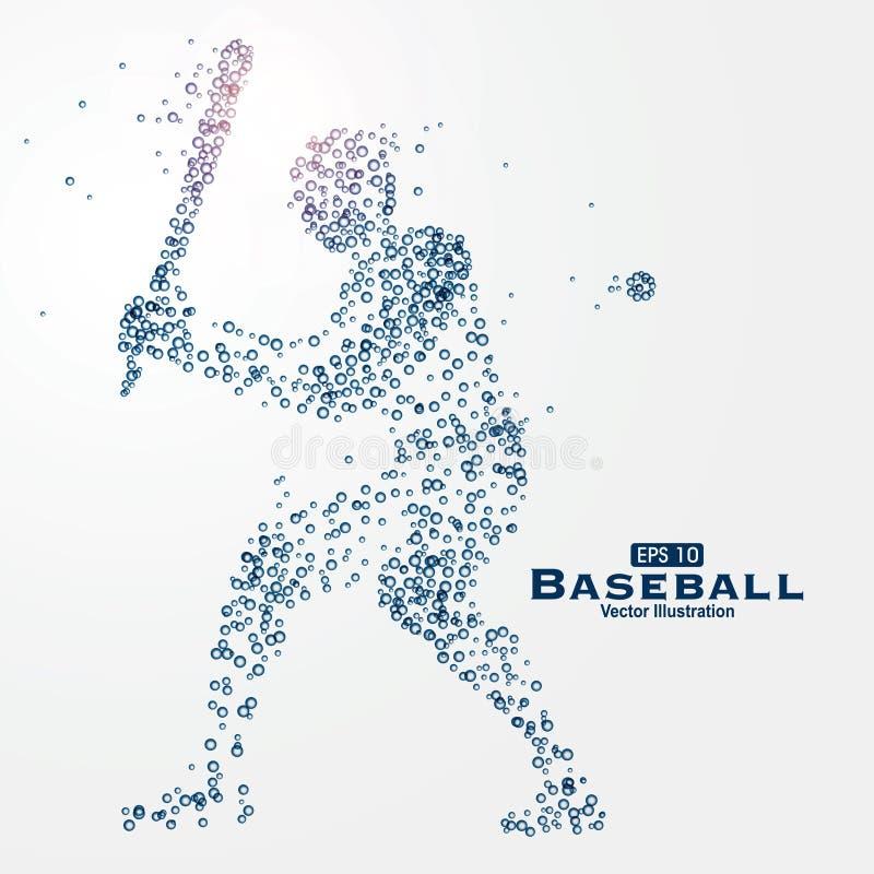 Immagine composta di particelle, illustrazione degli atleti di vettore illustrazione di stock
