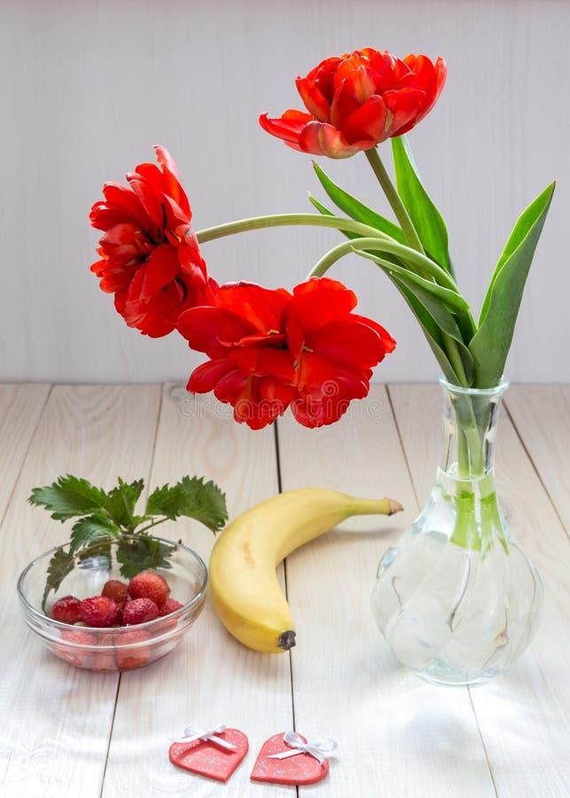 Immagine con i tulipani immagini stock