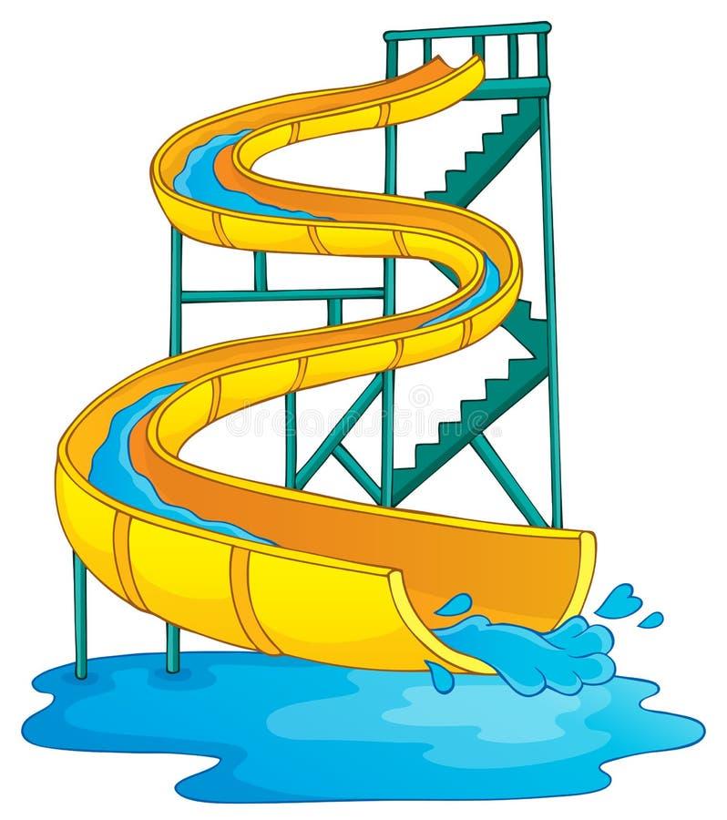 Immagine con il tema 2 del aquapark illustrazione di stock