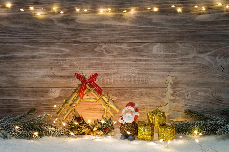 Immagine con le decorazioni di natale illustrazione di stock