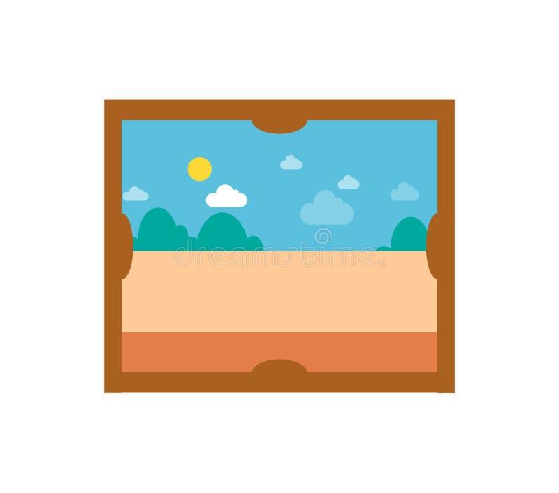 Immagine con Sunny Weather Vector Illustration royalty illustrazione gratis
