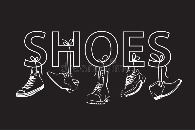 Immagine con testo e le scarpe royalty illustrazione gratis