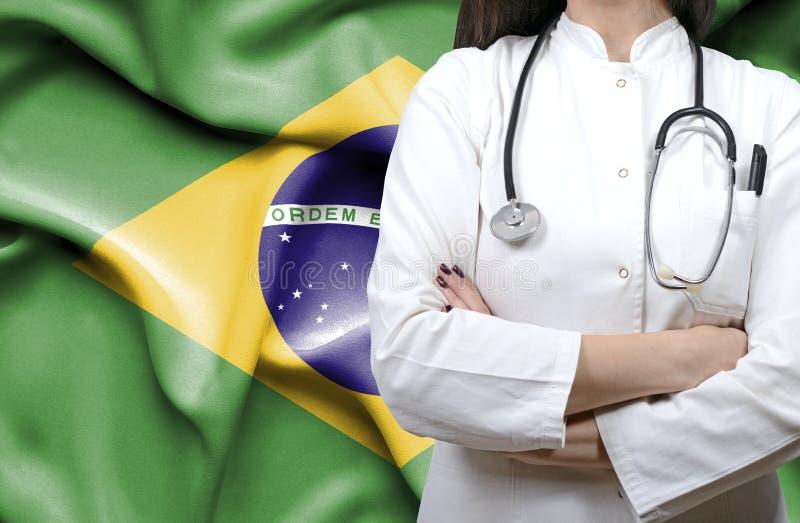 Immagine concettuale del sistema sanitario nazionale nel Brasile fotografia stock
