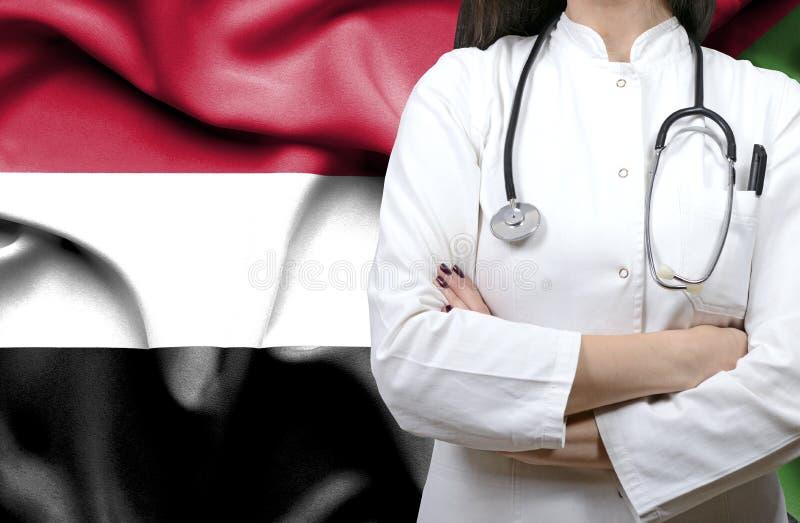 Immagine concettuale del sistema sanitario nazionale nel Sudan immagini stock libere da diritti