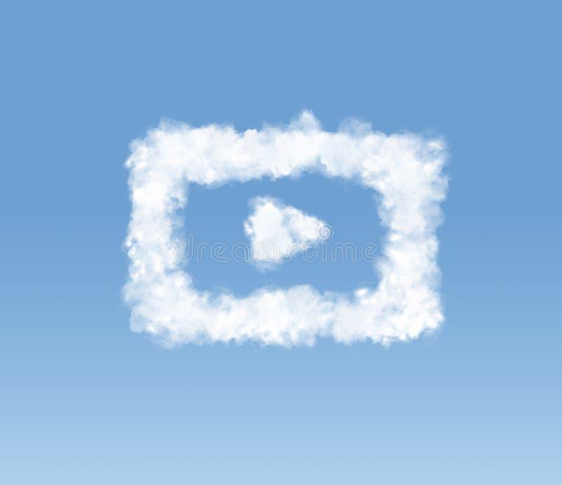 Immagine concettuale della nuvola a forma di illustrazione di stock