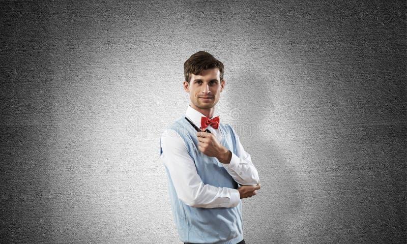 Immagine concettuale di giovane uomo d'affari fotografie stock libere da diritti