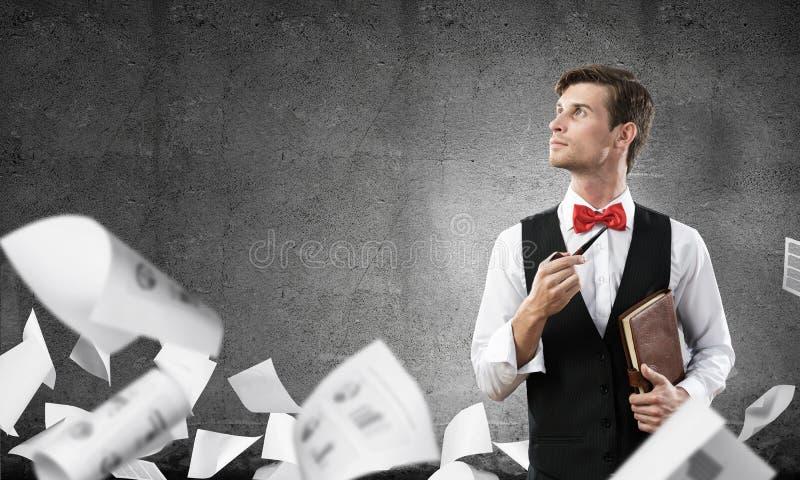 Immagine concettuale di giovane uomo d'affari immagini stock libere da diritti
