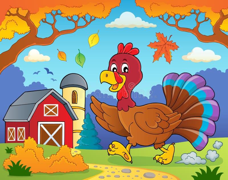 Immagine corrente 4 di tema dell'uccello del tacchino illustrazione di stock