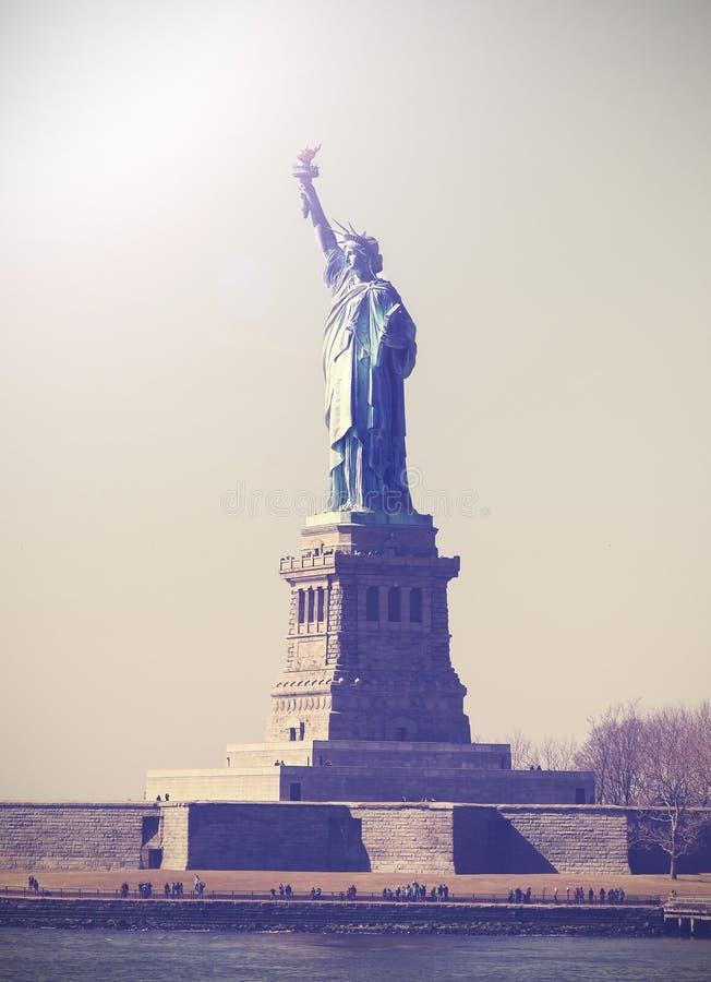 Immagine d'annata della statua della libertà, NYC, U.S.A. fotografia stock libera da diritti