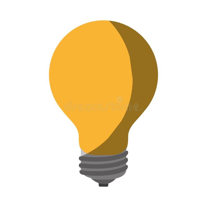 Immagine d'ombreggiatura variopinta realistica della lampadina sull'icona royalty illustrazione gratis