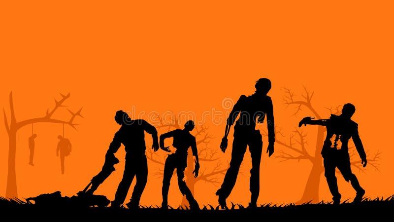 Immagine degli zombie illustrazione di stock
