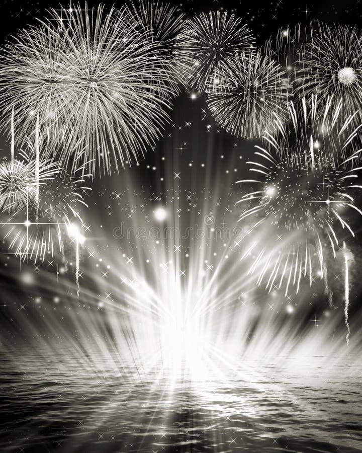 Immagine dei fuochi d'artificio fotografia stock