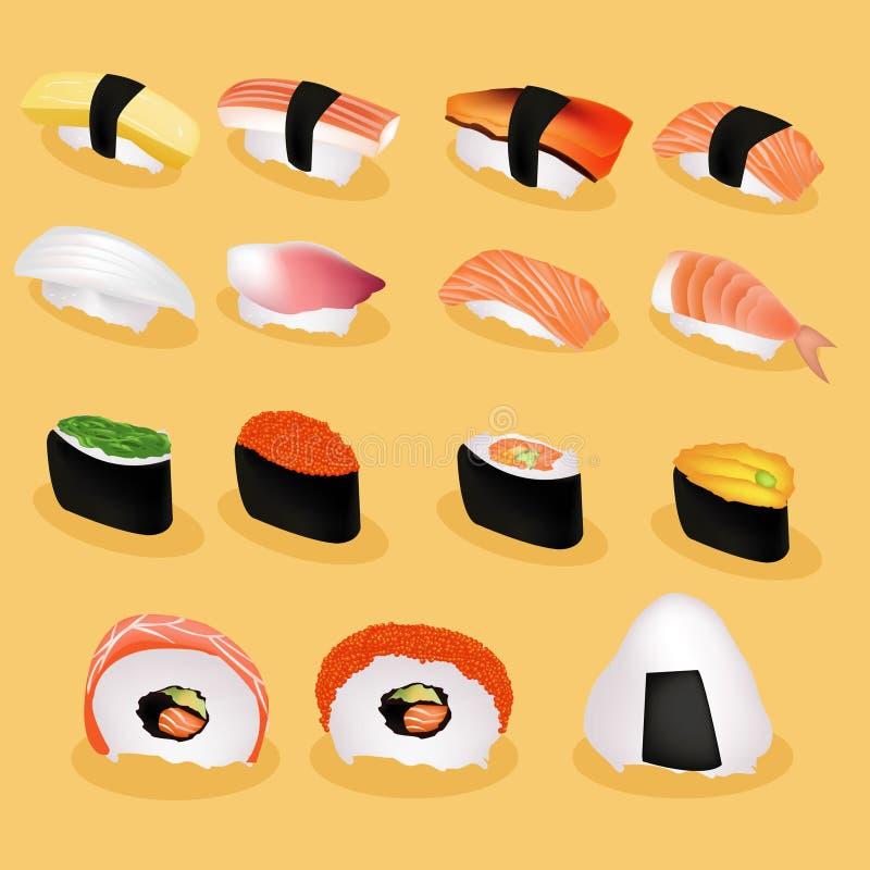 Immagine dei sushi del Giappone illustrazione di stock