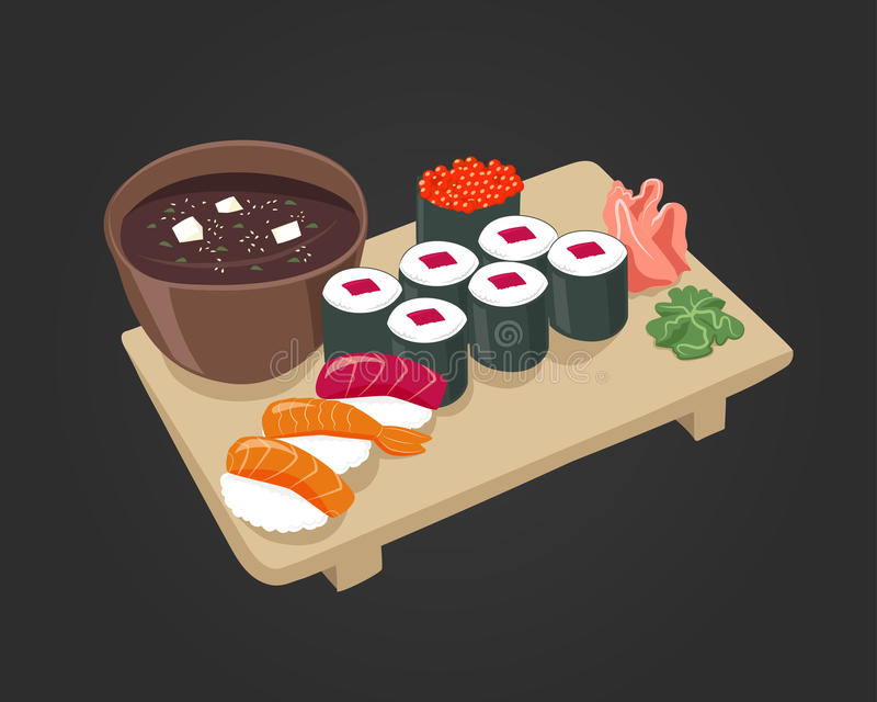 Immagine dei sushi di vettore royalty illustrazione gratis