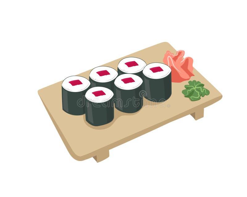 Immagine dei sushi di vettore illustrazione vettoriale