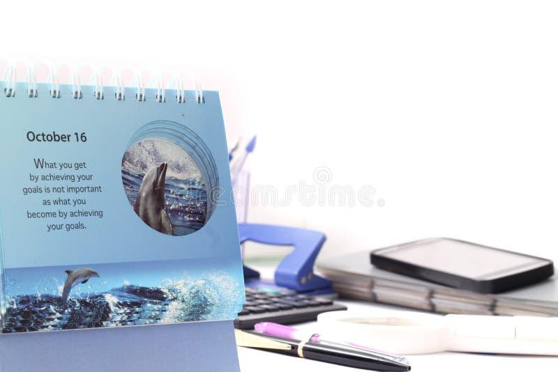 Immagine del calendario immagini stock