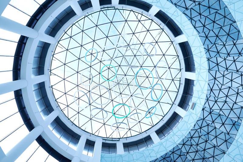 Immagine del dettaglio interno di uno spirito commerciale moderno della costruzione immagine stock