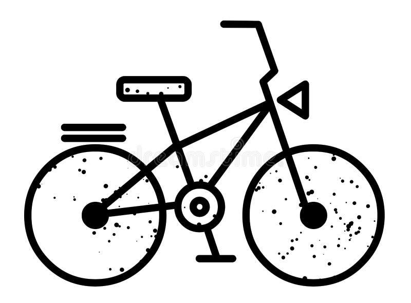 Immagine del fumetto dell'icona della bicicletta Simbolo della bici royalty illustrazione gratis