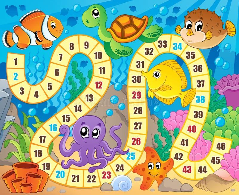 Immagine del gioco da tavolo con il tema subacqueo 1 royalty illustrazione gratis