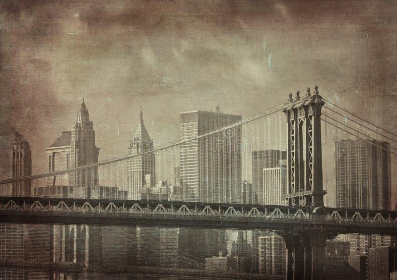 Immagine del grunge dell'annata di New York City illustrazione di stock