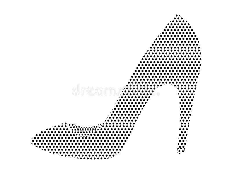 Immagine del modello punteggiato di un tacco alto femminile royalty illustrazione gratis