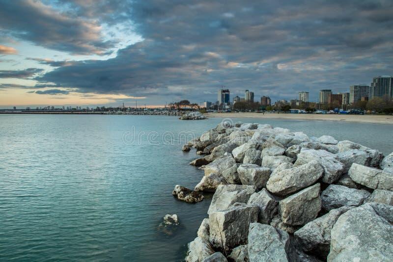 Immagine del paesaggio del lago Michigan fotografie stock