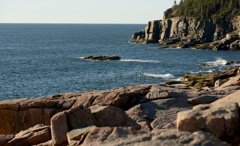 Immagine del paesaggio del parco nazionale di acadia in Maine fotografie stock
