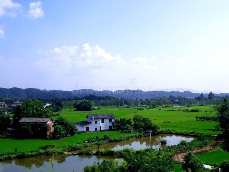 Immagine del paesaggio del villaggio fotografie stock libere da diritti