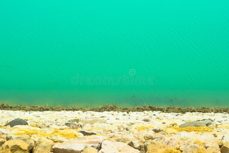Immagine del paesaggio del lago verde dell'acqua nel Punjab, Pakistan immagine stock libera da diritti