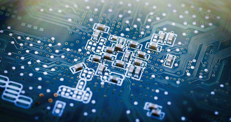 Immagine del primo piano del circuito immagini stock libere da diritti