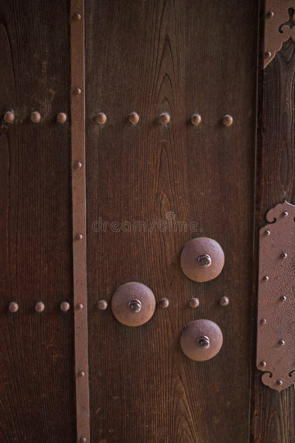 Immagine del primo piano dei portelli antichi immagine stock libera da diritti