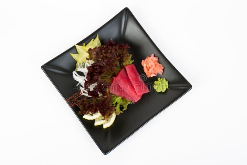 Immagine del sashimi saporito con il tonno fotografia stock