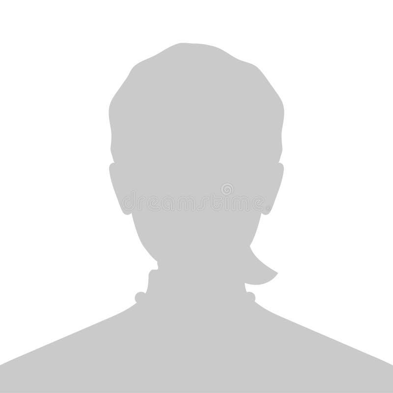 Immagine del segnaposto di profilo Siluetta grigia nessuna foto illustrazione vettoriale