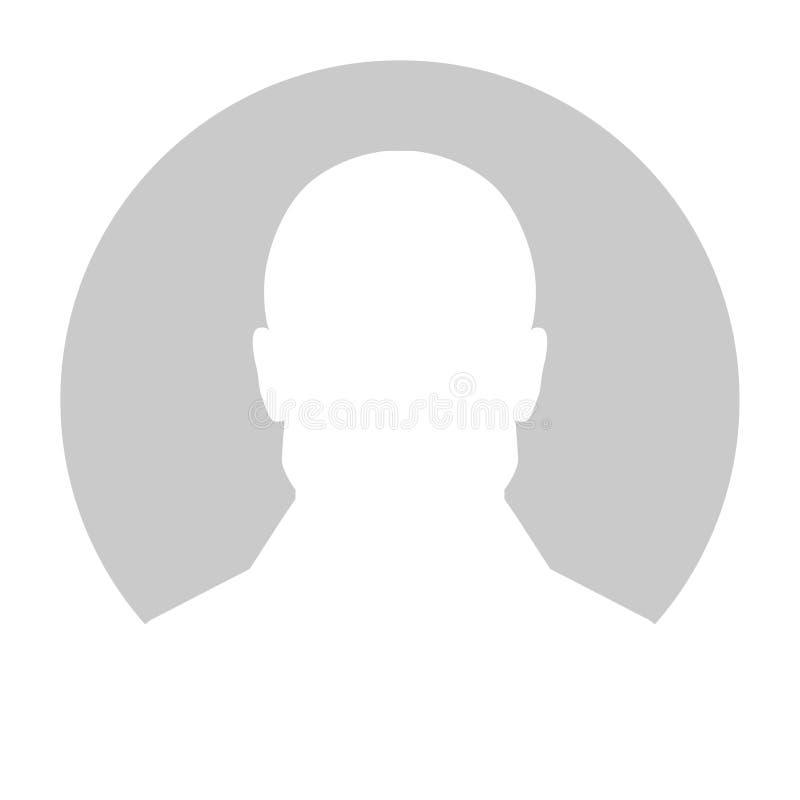 Immagine del segnaposto di profilo Siluetta grigia nessuna foto illustrazione di stock