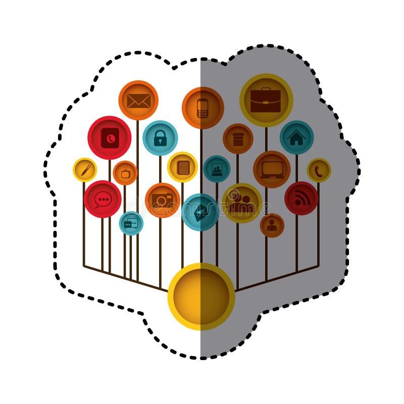 immagine del sito Web delle icone di tecnologia illustrazione vettoriale