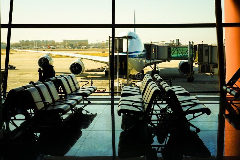 Immagine del terminale di aeroporto internazionale di Pechino fotografia stock libera da diritti