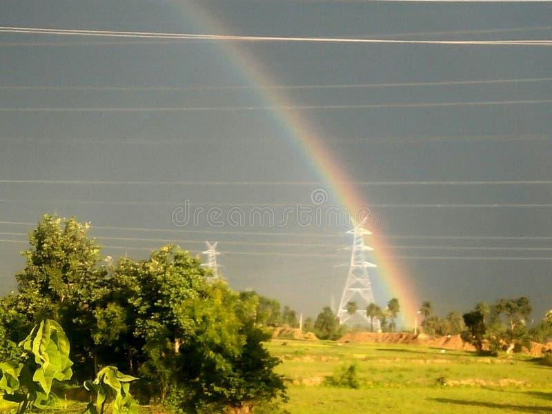 Immagine dell'arcobaleno e del cielo fotografie stock libere da diritti
