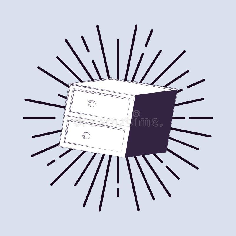 immagine dell'icona del cassetto illustrazione di stock
