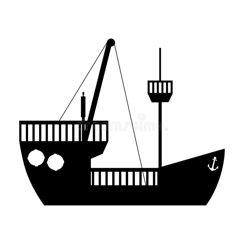Immagine dell'icona del crogiolo di nave illustrazione di stock