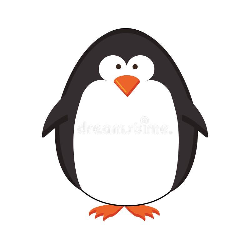 Immagine dell'icona del fumetto del pinguino illustrazione vettoriale