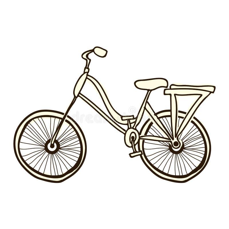Immagine dell'icona del fumetto della bicicletta o della bici illustrazione di stock
