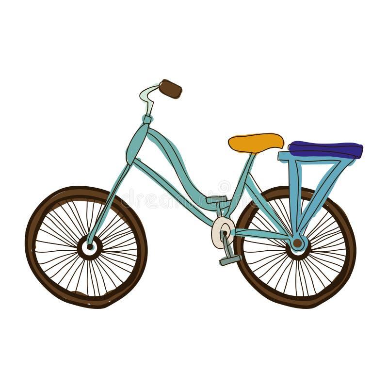 Immagine dell'icona del fumetto della bicicletta o della bici royalty illustrazione gratis